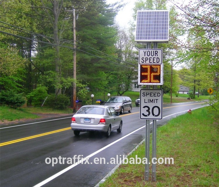 Fixed Radar Speed Warning Signs Outdoor Speed Detection