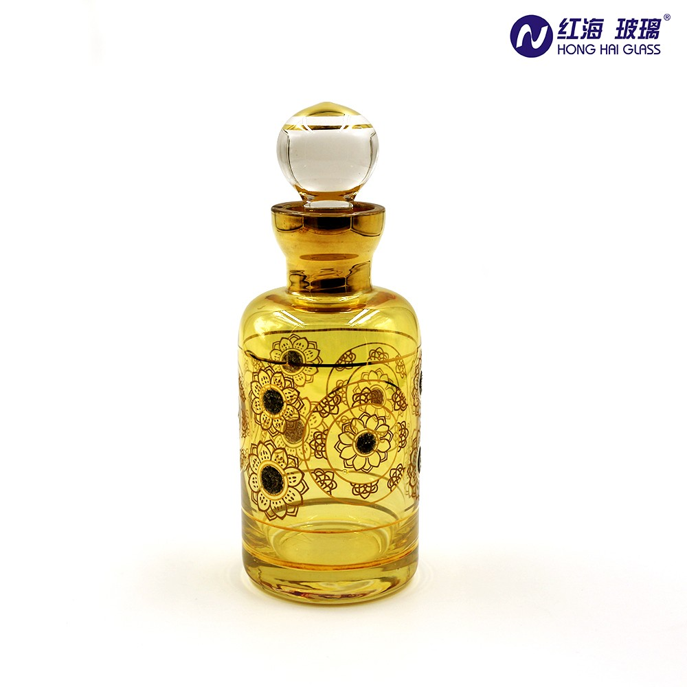 Hot sell arabic perfume bottles decal bottle perfume 300ml Antique Luxury Handmade Glass Perfume Bottle