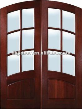 Glass Double Arch Main Door Designs Home Interior DJ S9183A