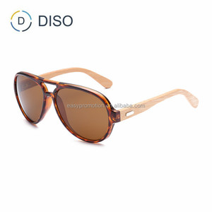 Bamboo wide temple classical sunglasses 2018