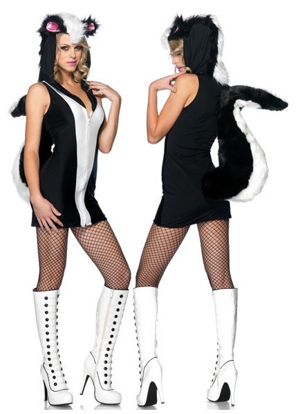 get quotations free shipping leather fur skunk costume high quality women sexy cosplay good looking halloween costumes