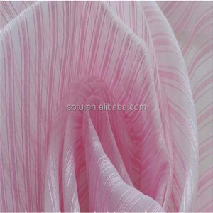wholesale poly/nylon cheap /color yarn organza fabric for wedding dress