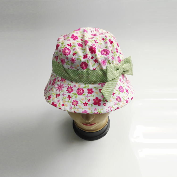 7f146e5080 Outdoor summer sun hat wholesale baby girls children floral funny cute  bucket hats custom