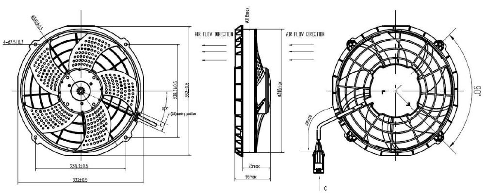 High Speed 12v 12 18v 24v 24 Volt Dc Brushless Blower Fan