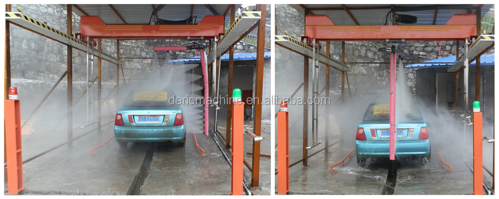 Automatic Tunnel Car Washing Machine With Rotary Water Spraying ...