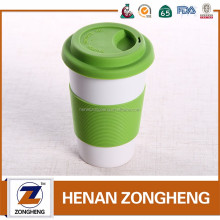 wholesale custom ceramic starbucks coffee mug with silicone lid