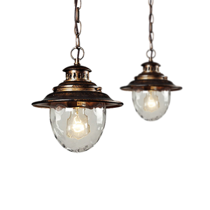 Vintage Style industrial pendant light Energy saving bulb suspended glass black nordic chandelier pendant light fixture