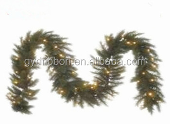 green color pvc lighting garland with the decorationled christmas garland lights led pvc