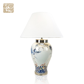 Guangzhou Wholesale Chinese Home Goods Luxury Modern Porcelain Vase Desk  Lamp Antique Bedroom Ceramic Table Lamp For Home Decor - Buy Ceramic Table  ...