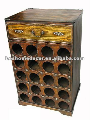 Antique Wine Rack Cabinet Wooden Holder Product On Alibaba