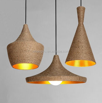 Cheap Handmade Hemp Rope Lamp Indian Style Vintage Pendant Lamp For Bar Or  Restaurant Decor Antique
