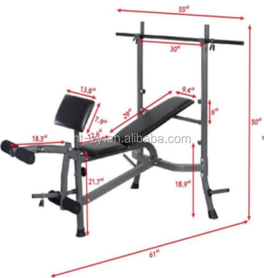 Fitness vouwen gewichtheffen bench thuis gym oefening barbell fitnessapparatuur product id - Thuis opslag bench wereld ...
