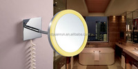 wall mount shaving lighted led magnify bathroom mirror with lights for hilton hotel