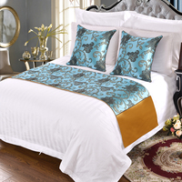 Super Luxury Hotel Bedding Set 100% Cotton Hotel Bed Runners And Cushion Cover