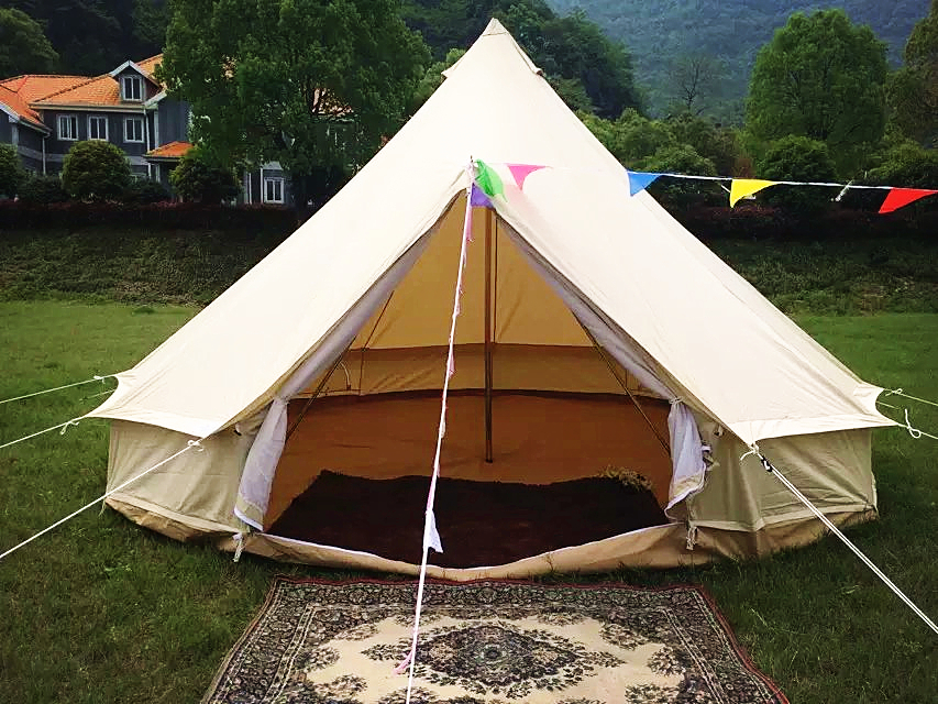 Leshade camping teepee indian outdoor tents buy outdoor for Canvas tent plans