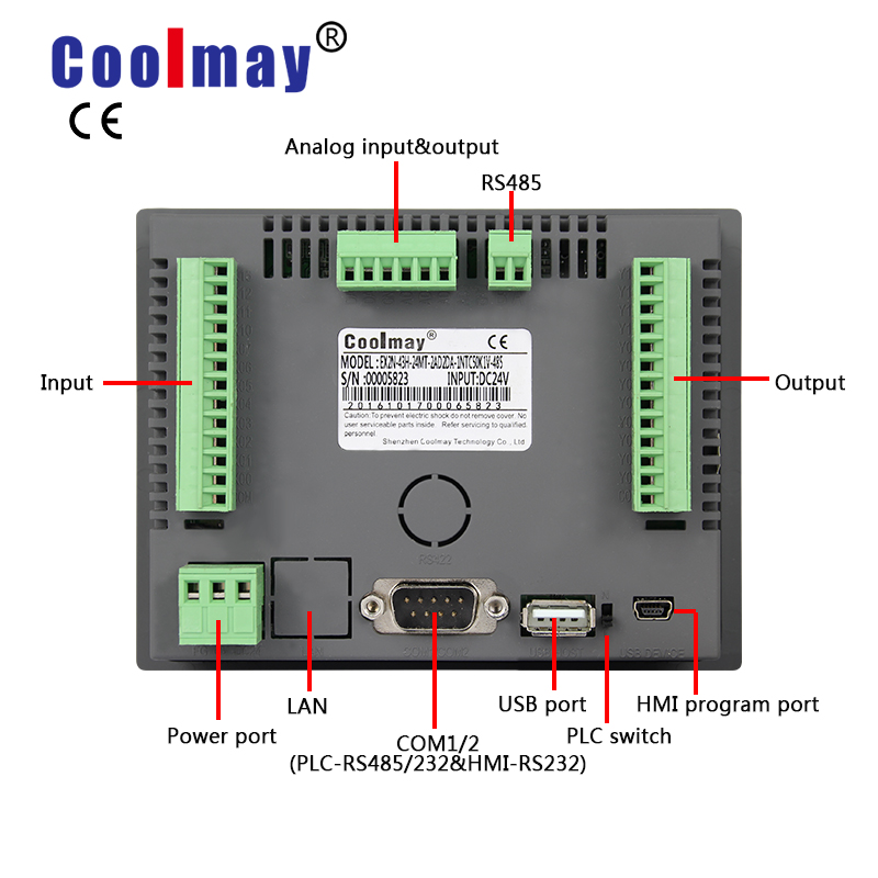 Plc EX3G-43HB-24MR Water JetตัดController