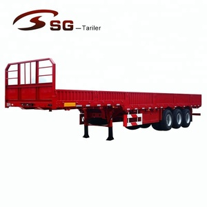 50T heavy duty truck 3 axles end semi dump trailers