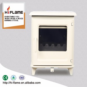Hiflame Multi fuel steel plate wooden burning stove wood fireplace burner for wholesales HF905UBE Ivory