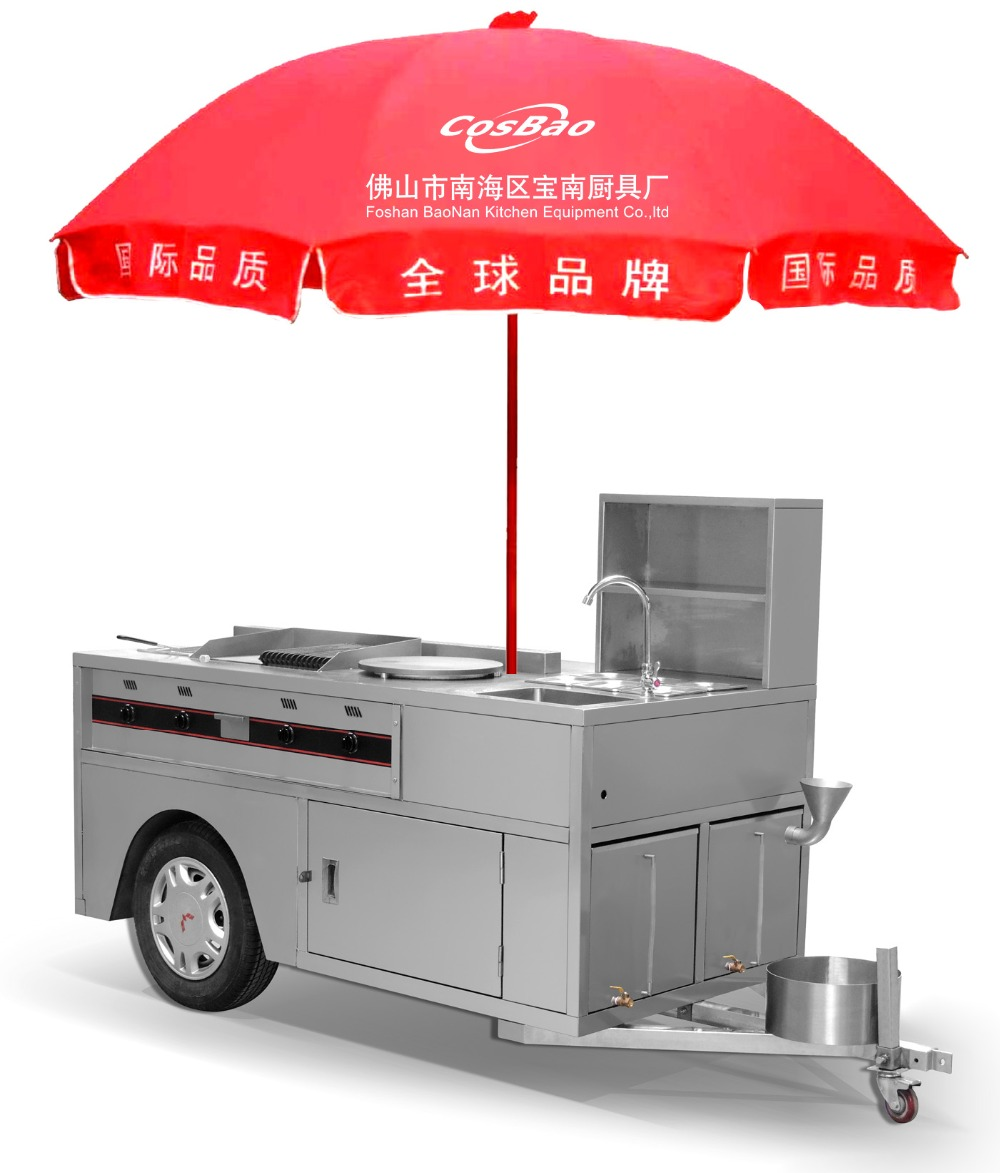 2016 New Design China Tricycle Mobile Bike Food Cart For