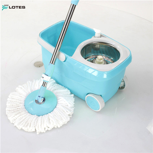 360 Easy Wring Mop and Bucket System with Wheels Includes 4 Free Mop Heads