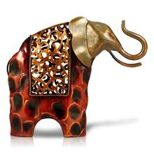 TOOARTS резная железная статуэтка слона Металлическая статуэтка животного домашний декор миниатюрное ремесло подарок для украшения дома аксе...(Китай)
