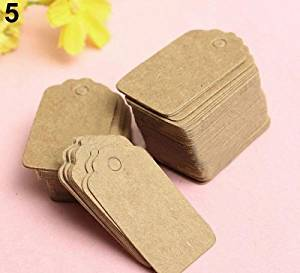 Irregular Square Vintage Blank Brown Kraft Paper Hang Tags Wedding Favor Label Gift Cards 100