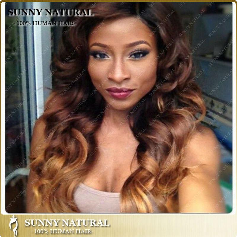 Wholesale 3 Tone Loose Curl Virgin Peruvian Hair Full Lace