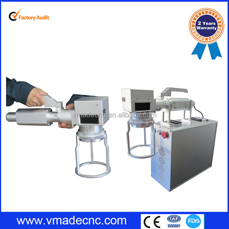 European standard FDA CE certificate knives/ eyeglasses and clocks/ jewelry/ auto parts Hand-hold fiber laser marking machine
