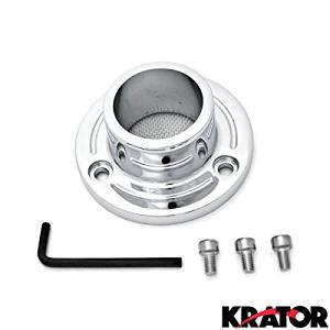 Krator Dirt Bike Exhaust Tip Muffler Power Outlet Chrome For 2007 Yamaha TT-R230