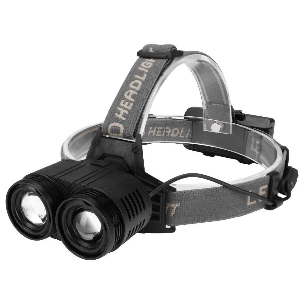 Head Lamp,Quaanti Head Lamp,Tactical Rechargeable T6 LED Headlamp 18650 Headlight Head Lamp Torch 2018 (Black)