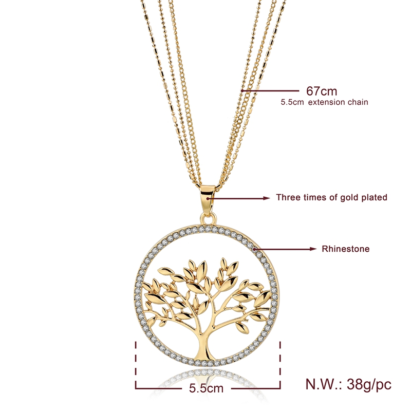Creative Family Tree Of Life Pendant Necklace Crystal Meaning Birthday Gifts For Mom