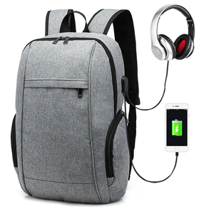Waterproof polyester USB charging laptop bag backpack,student notebook bagpack