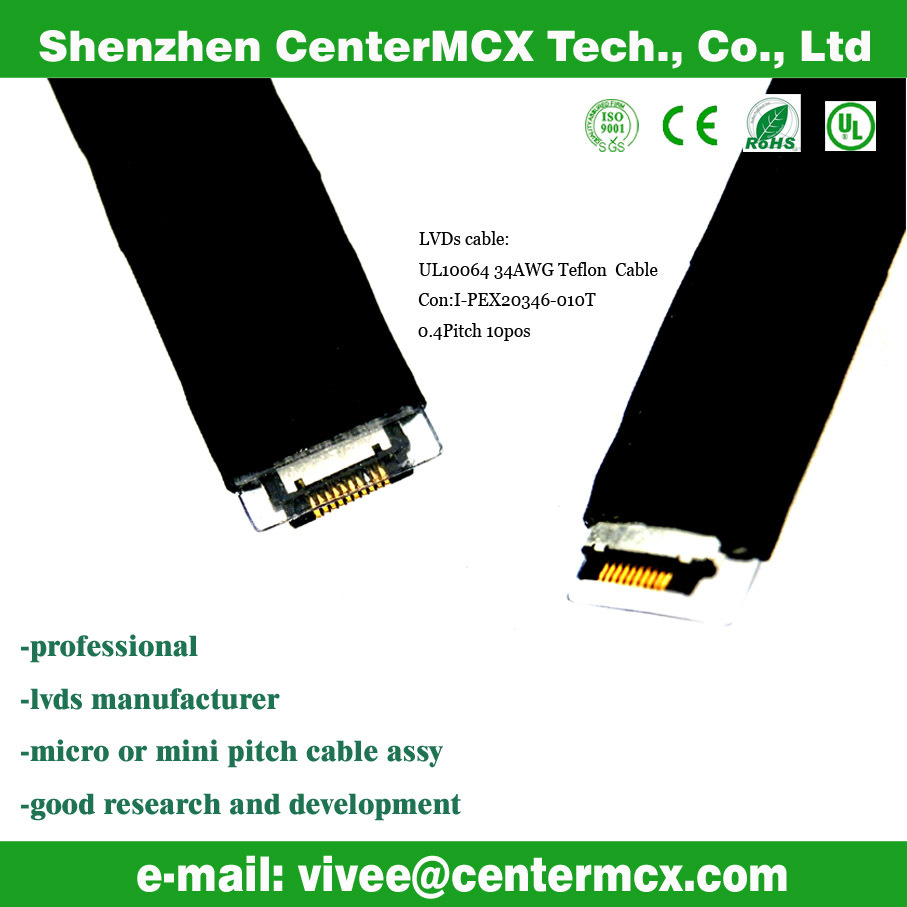lvds 50 pin cable lcd screen flex cable