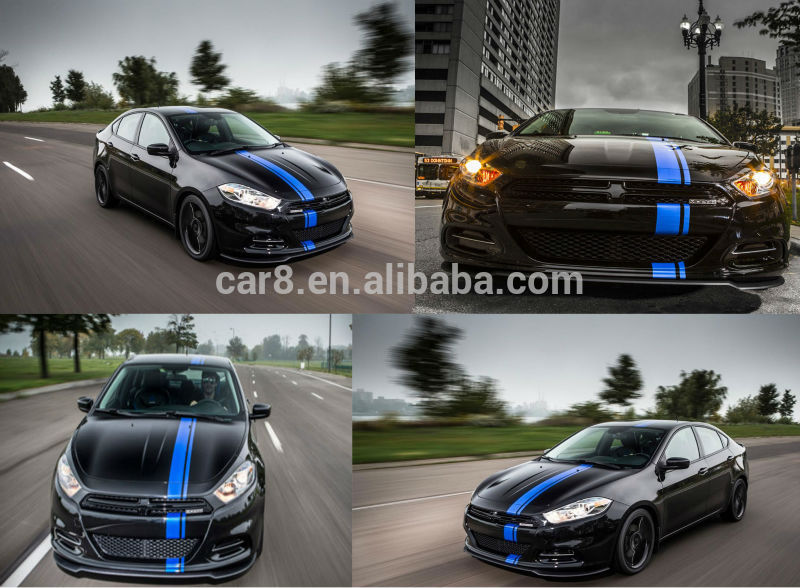 Carlas mustang racing stripes rally stripes painted versus precut racing stripes