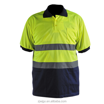 Wholesale hi vis custom embroidered flousrent yellow and for Cheap custom embroidered polo shirts