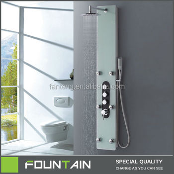 Best Shower Panel Tap Shower Faucet Tempered Glass Shower Tower ...