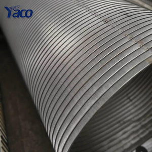 304 316 stainless steel wedge wire screen pipe for mesh water filter