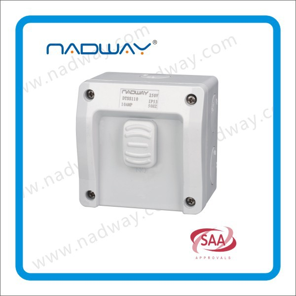 2015 NEW product weatherproof surface switch 1 gang 15A