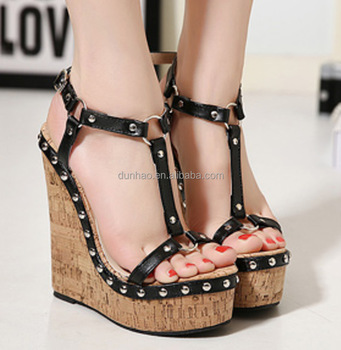 275edd0255f 2016 new wedges lady sandals shoes girls latest high heel sandals high heel  sandals