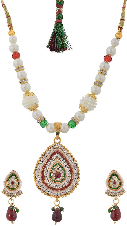 Handicraft Kottage Women's Fashion Jewelry White Metal Necklace (HK-ANMG211)