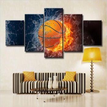 Heisser Verkauf Feuer Basketball Hd Poster Schlafzimmer