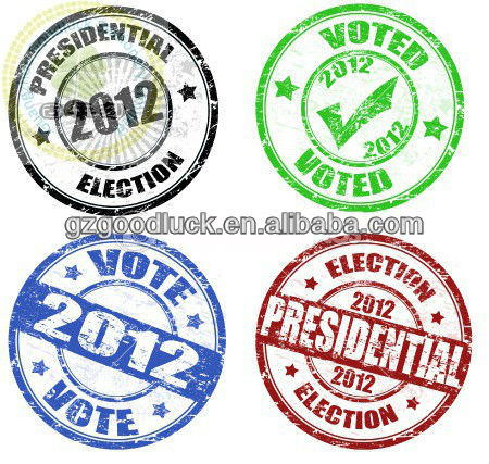 Rubber stamp election fingerprint stamp