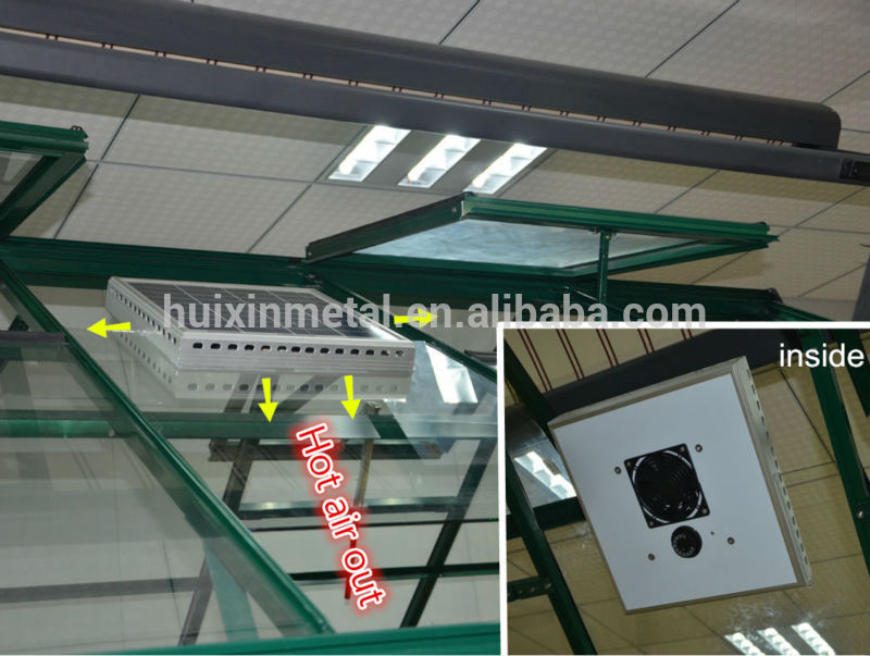 Eco Friendly Greenhouse Ventilation Solar Attic Fan View