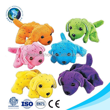 Various Colorful Stuffed Animal Mini Plush Dog Keychain Custom