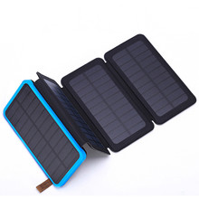 2019 trend 4pcs solar charger powerbank  power banks OEM 10000mah mobile solar charger