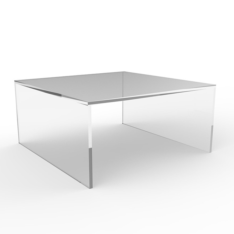 - Square Clear Acrylic Coffee Table Furnitures Lucite End Table For