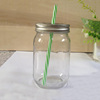 350ml 12 oz glass mason jar with straw