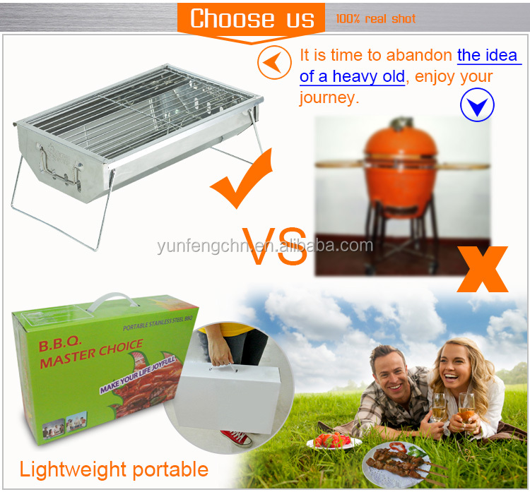 2017 indoor mini choarcoal bbq barbeque grill for restaurant