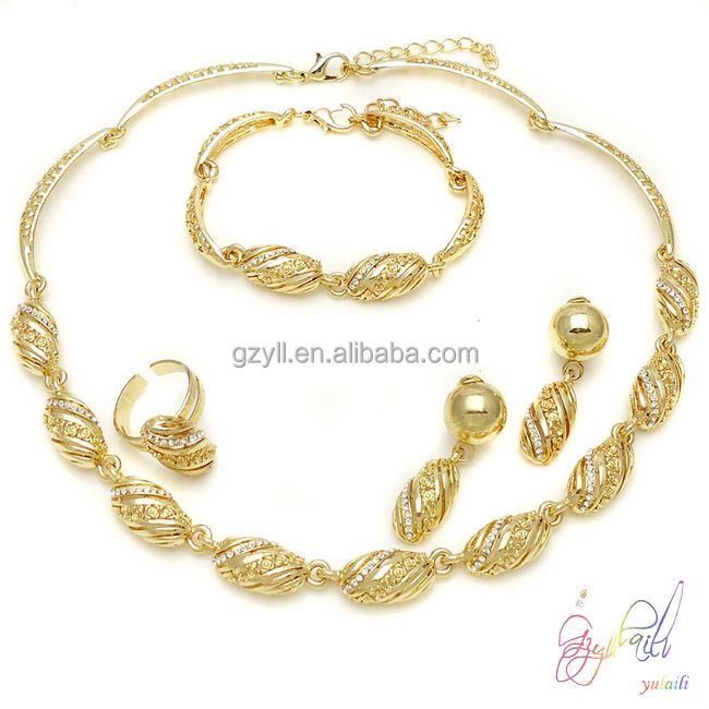 Indian 22k Gold Plated Wedding Necklace Earrings Jewelry: Wholesale 22k Indian Gold Jewelry