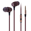 oem manufacturer wholesale custom logo hifi wooden headphone in ear earbuds with microphone new design 3.5mm bamboo earphone